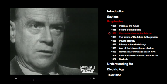 Video-Collection: Marshall McLuhan Speaks
